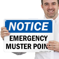 Muster Point OSHA Notice Sign
