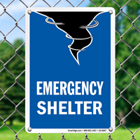 Rescue Area Emergency Sign