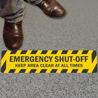 Shut Off Floor Sign