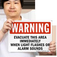 Evacuate This Area OSHA Warning Sign