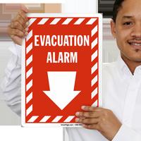Evacuation Alarm Emergency Signs