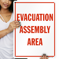 Evacuation Assembly Area Fire Signs