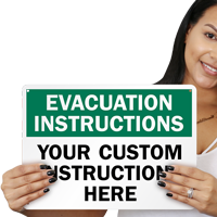 Custom Evacuation Sign
