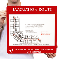 Evacuation Route Map Holder