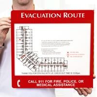 Evacuation Map Sign Holder Frame