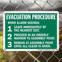 Evacuation Procedure Steps