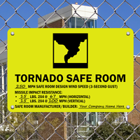 Tornado Safe Room Sign