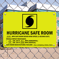 Hurricane Safe Room Sign