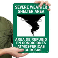 Bilingual Emergency Shelter Sign