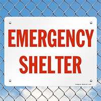 Fire and Emergency Shelter Sign