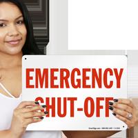 Fire & Emergency Shut-Off Sign