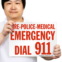 Fire Police Medical Emergency Sign