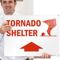 Tornado Shelter Fire & Emergency Sign