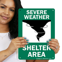 Shelter Area Emergency Signs