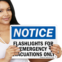Emergency Evacuations Only Sign