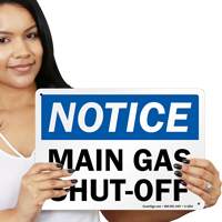 Gas Cut Off Sign
