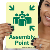 Glow-in-the-Dark Assembly Point Sign