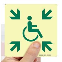 Glow-in-the-Dark Handicap Safe Area Sign