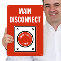 Main Disconnect Fire & Emergency Sign