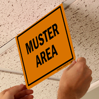 Z-Sign for Ceiling 2-Sided Sign