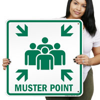 Muster Point Emergency Signs