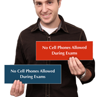 No Cell Phones Allowed During Exams Sign