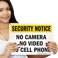 No Cell Phone Security Sign