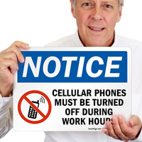 Cellular Phones turned off Sign