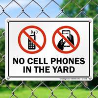 No Cell Phones Yard Sign