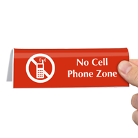 No Cell Phone Zone TableTop Sign