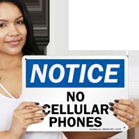 No Cellular Phones Sign