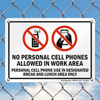 No Mobile Phone Allowed Sign