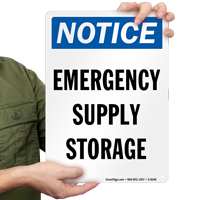 Emergency Supply Storage Sign