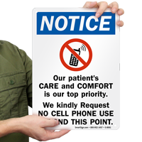 Our Patients Care And Comfort is Our Top Priority Sign