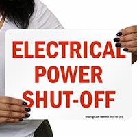 Power Shut-Off Sign