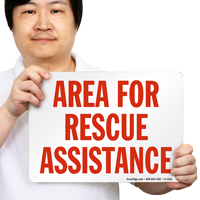 Rescue Assistance Sign