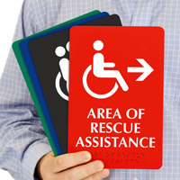 Area Of Rescue Assistance Accessible Symbol Sign