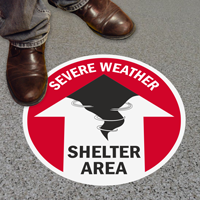 Weather Shelter Area with Up Arrow Sign