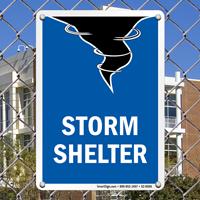 Storm Emergency Shelter Sign