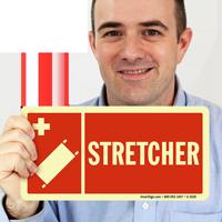 Stretcher Fire & Emergency Sign