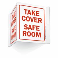 Take Cover Safe Room Sign