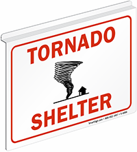 Tornado Shelter Ceiling Sign