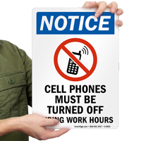 Cell Phones Must Be Turned Off Sign