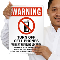 Turn Off Cell Phones While At Refueling Sign