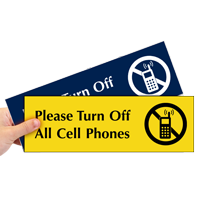 Please Turn Off All Cell Phones Sign