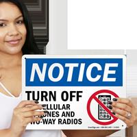 Turn Off Cellular Phones Radios Sign