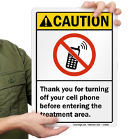 Thank You For Turning Off Your Cell Phone Sign