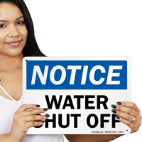 Water Shut Off Sign