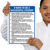 Ways to Be Successful Student Signs