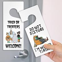 Halloween Do Not Disturb Door Hang Tag
